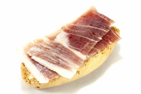 iberian: Prosciutto iberico toast, tipico della Spagna Archivio Fotografico