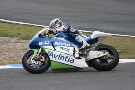 Moto GP rider Ivan Silva running at Jerez