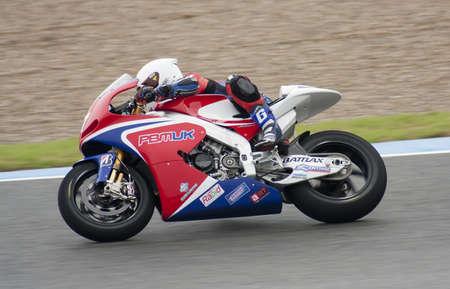 motorcycling: Moto GP rider James Ellison running at Jerez