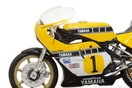 motorcycling:  Replica of the motorcycle rider, Kenny Roberts, in 1979, with which he was champion of the world of motorcycling.