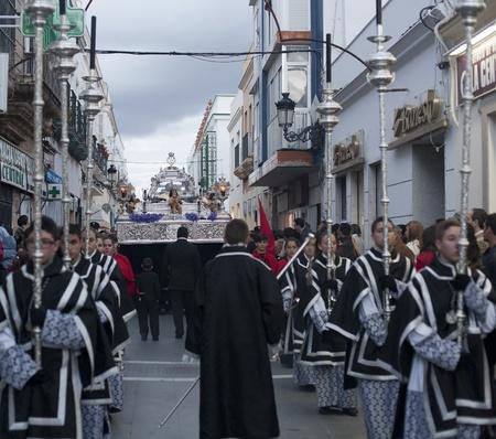 pilgrimage through the streets of Nuestro Padre Jesus Yacente Editorial