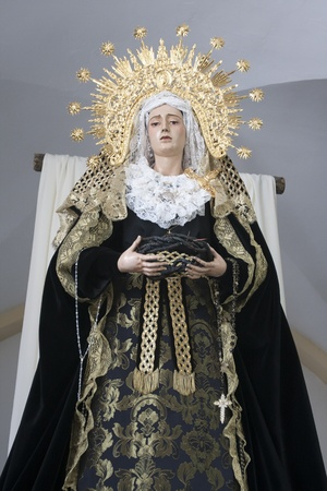 Virgin of the Star in Ubrique before going on pilgrimage