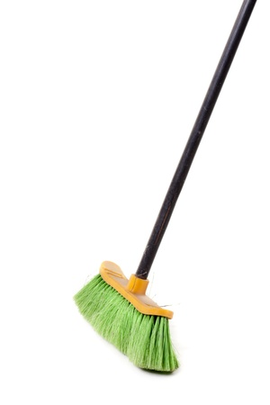 green broom, for domestic use Banque d'images