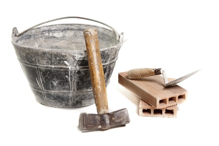 several tools used in the construction Stock Photo