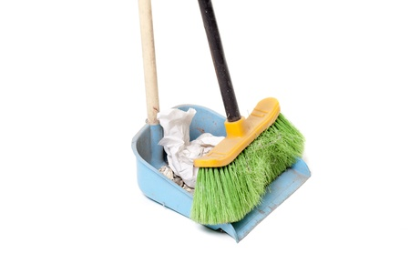 green broom, for domestic use Stock Photo