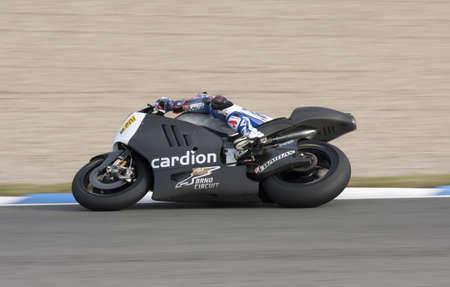 Moto GP rider Karel Abraham running at Jerez Stock Photo - 13574748