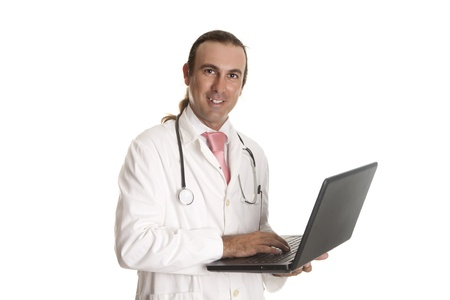 a doctor looking at your pc Stock Photo - 14623054