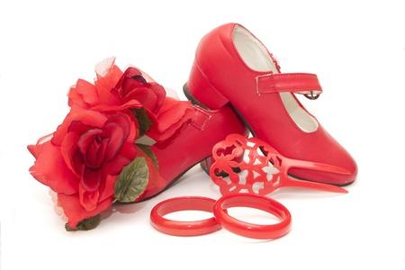 varios artículos de vestir en el flamenco
