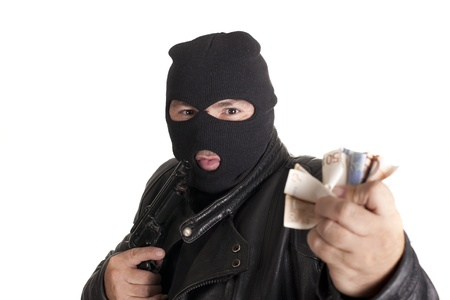a thief, after docking at gunpoint Stock Photo - 15243552