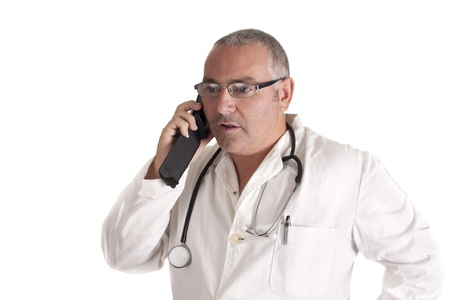 a doctor talking on phone Stock Photo - 15236635