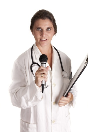 a doctor of medicine lecturing