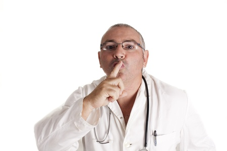 a doctor for silence, in hospital Stock Photo - 15259705
