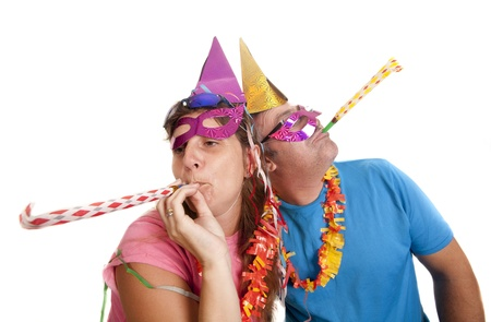 two young men celebrating a party photo