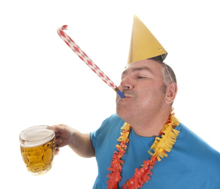A man enjoying a great party Stock Photo