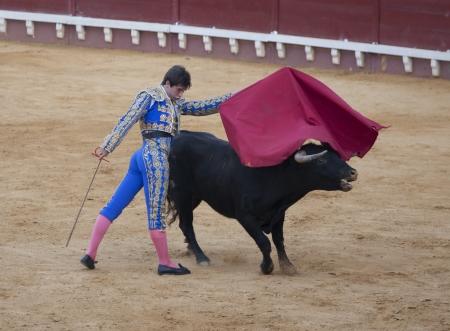PUERTO DE SANTA MARIA, ESPA? - 02 de septiembre: El torero Paco Hidalgo lucha en la Plaza del Puerto. 02 de septiembre 2012 en El Puerto de Santa Mar? Espa? Stock Photo - 15620533