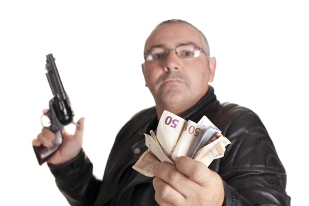 a thief committing a robbery Stock Photo - 16005259