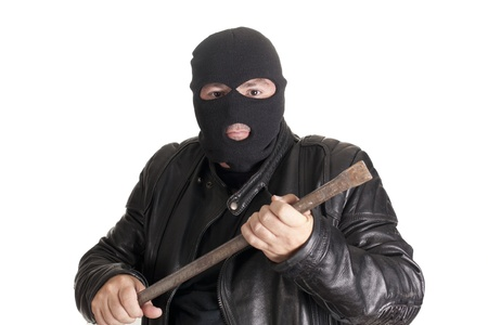 a thief committing a robbery photo