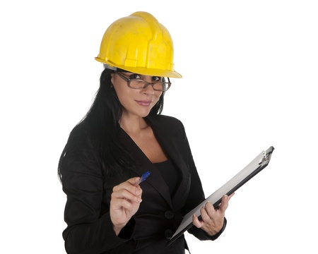 one female boss of work, working Stock Photo - 16168852