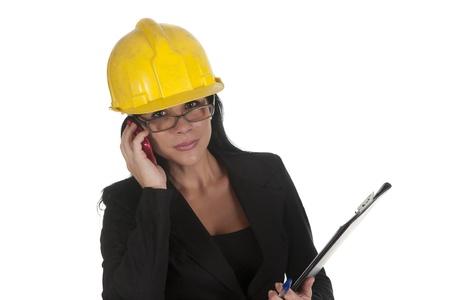 one female boss of work telephoning Stock Photo - 16168853