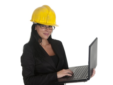 one female boss of work, using your pc Stock Photo - 16168854
