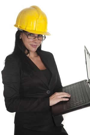 one female boss of work, working Stock Photo - 16299966