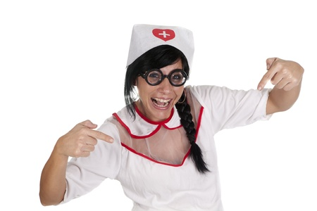 a pretty nurse, ready to care for their patients photo