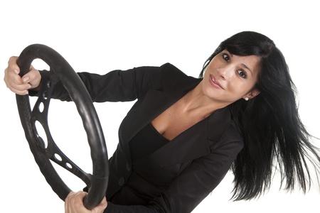 a pretty woman driving a car Stock Photo - 16584337