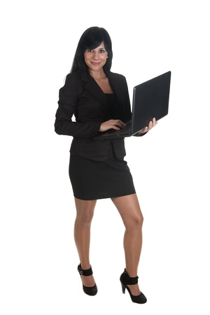 a woman entrepreneur, using his laptop Stock Photo - 16584120