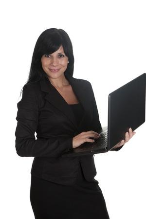 a woman entrepreneur, using his laptop Stock Photo - 16584131