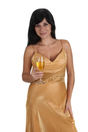 a sexy girl, toasting with a glass of champagne Stock Photo - 16584346