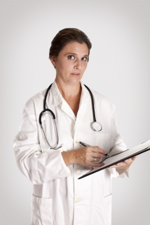 noting a doctor about his patient Stock Photo - 16883056