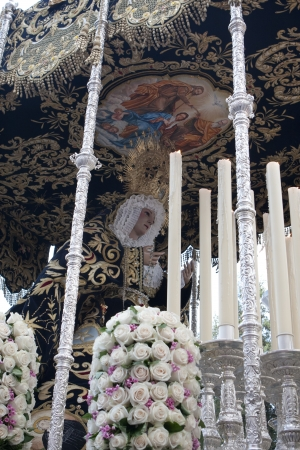 semana santa: Virgin out in procession through the streets at Easter Editorial