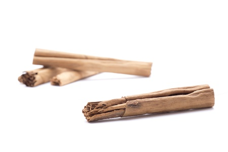 several cinnamon sticks naturally to flavor foods Stock Photo - 18514936