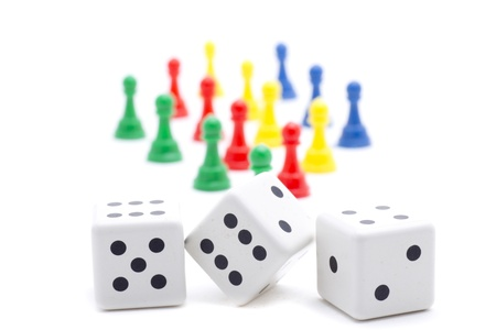 dice and chips to play and have fun gambling Stock Photo - 18514917