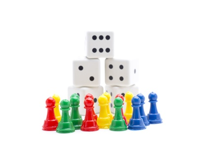 dice and chips to play and have fun gambling Stock Photo - 18514908