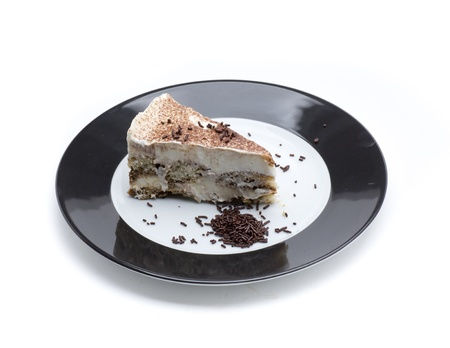 tiramisu cake, check with sponge cake, mascarpone cheese and cinnamon Stock Photo - 18514957