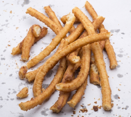 churros: churros, typical Andalusian breakfast, made of oil and flour dough