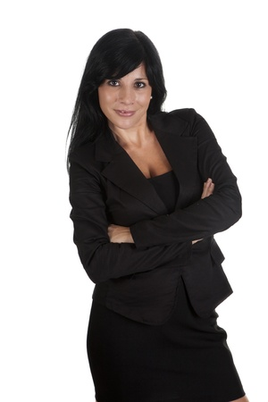 a sexy businesswoman with executive suit photo