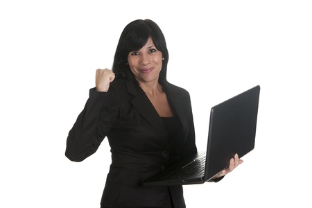 a woman entrepreneur, using his laptop photo