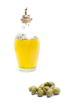 Olive oil is an ingredient of the healthiest, typical of Mediterranean cuisine Stock Photo