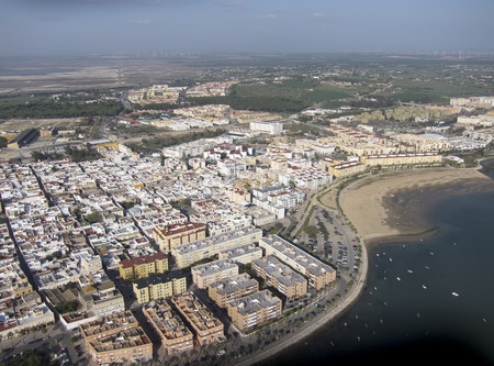 taken: Aerial photo taken with drone, the coastal town of Puerto Real