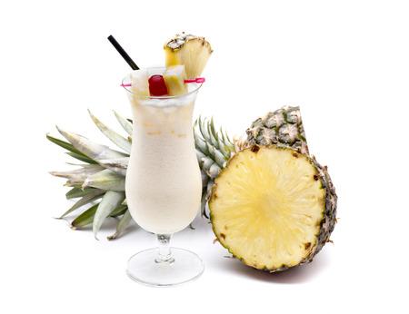 a typical cocktail area cariba the Piña colada Stock Photo