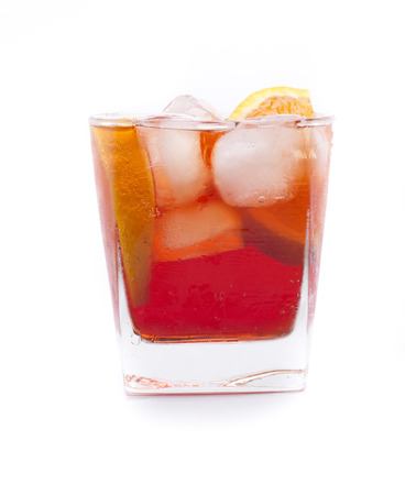 alcochol: a cocktail called Americano, with Campari based drink Stock Photo
