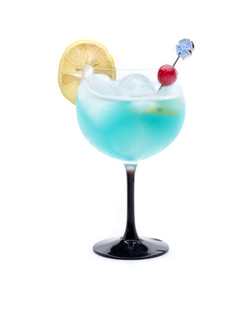 alcochol: a cocktail called Coco blue due to its blue color