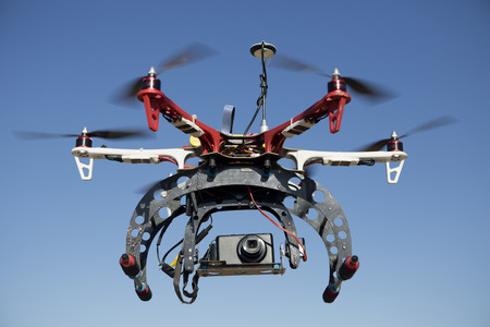 a drone for aerial photography prepared