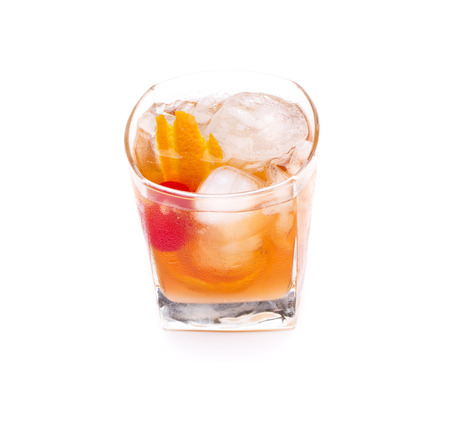 alcochol: a cocktail called old fashion, the cocktail worlds oldest Stock Photo