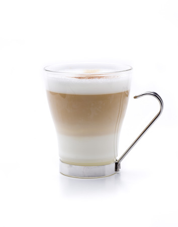 cappuccino cup: a hot cappuccino served in three layers