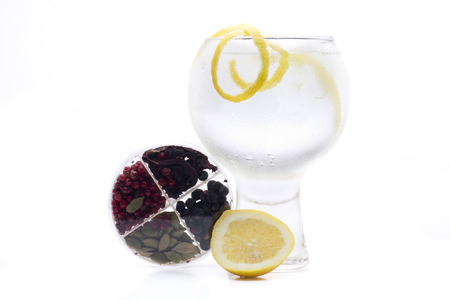 gin: a gin and tonic, one of the most famous cocktales based gin Stock Photo
