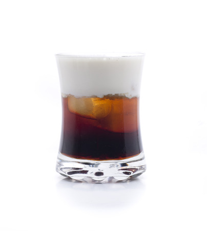 a cocktail made up, vodka, coffee liqueur and cream Stock Photo