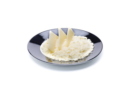 queso rallado: queso curado rallado, sazonar la comida ingrediente